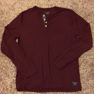 Abercrombie & Fitch Long Sleeve Button Up T-Shirt